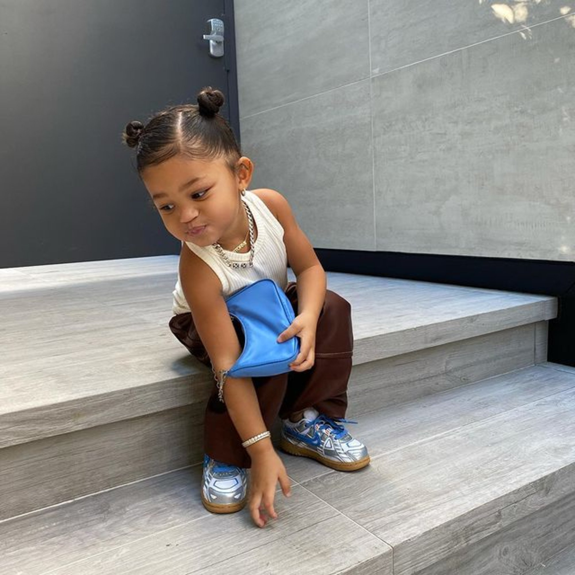 1608838390 399 Kylie Jenner Shows Off Stormi Webster's Prada Purses And Calls