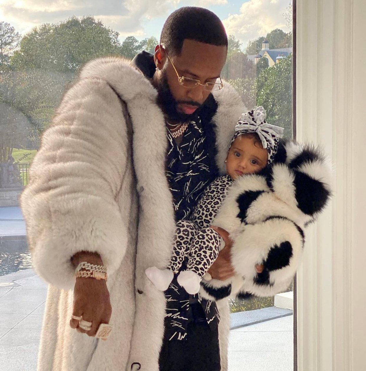 Safaree's Christmas Photos Featuring Baby Girl Safire Will Make Your