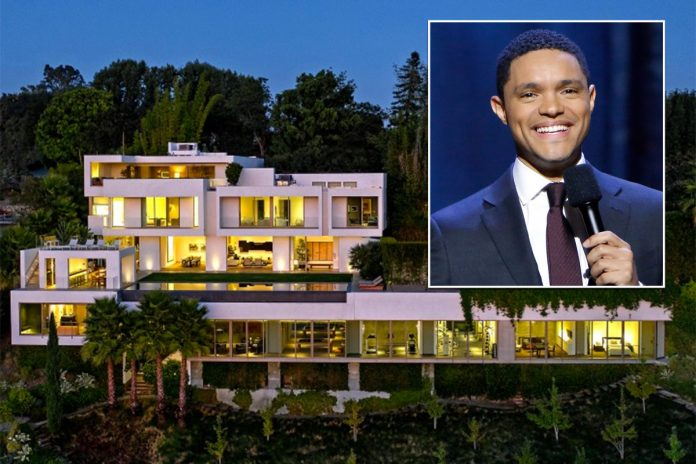 Inside Trevor Noah and Minka Kelly's $27.5M Bel Air house