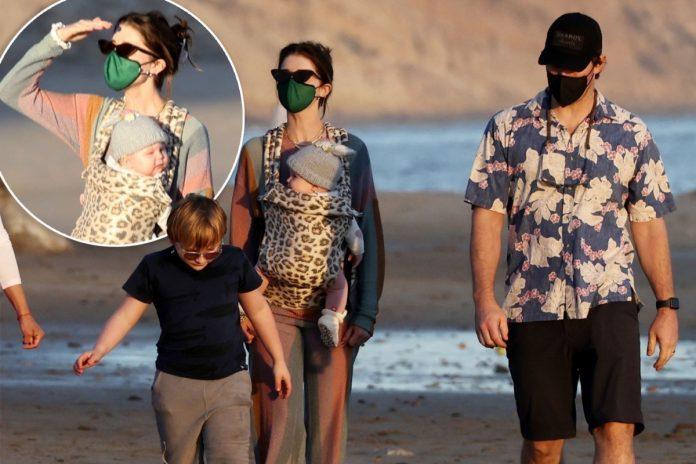 Chris Pratt and Katherine Schwarzenegger snapped with kids