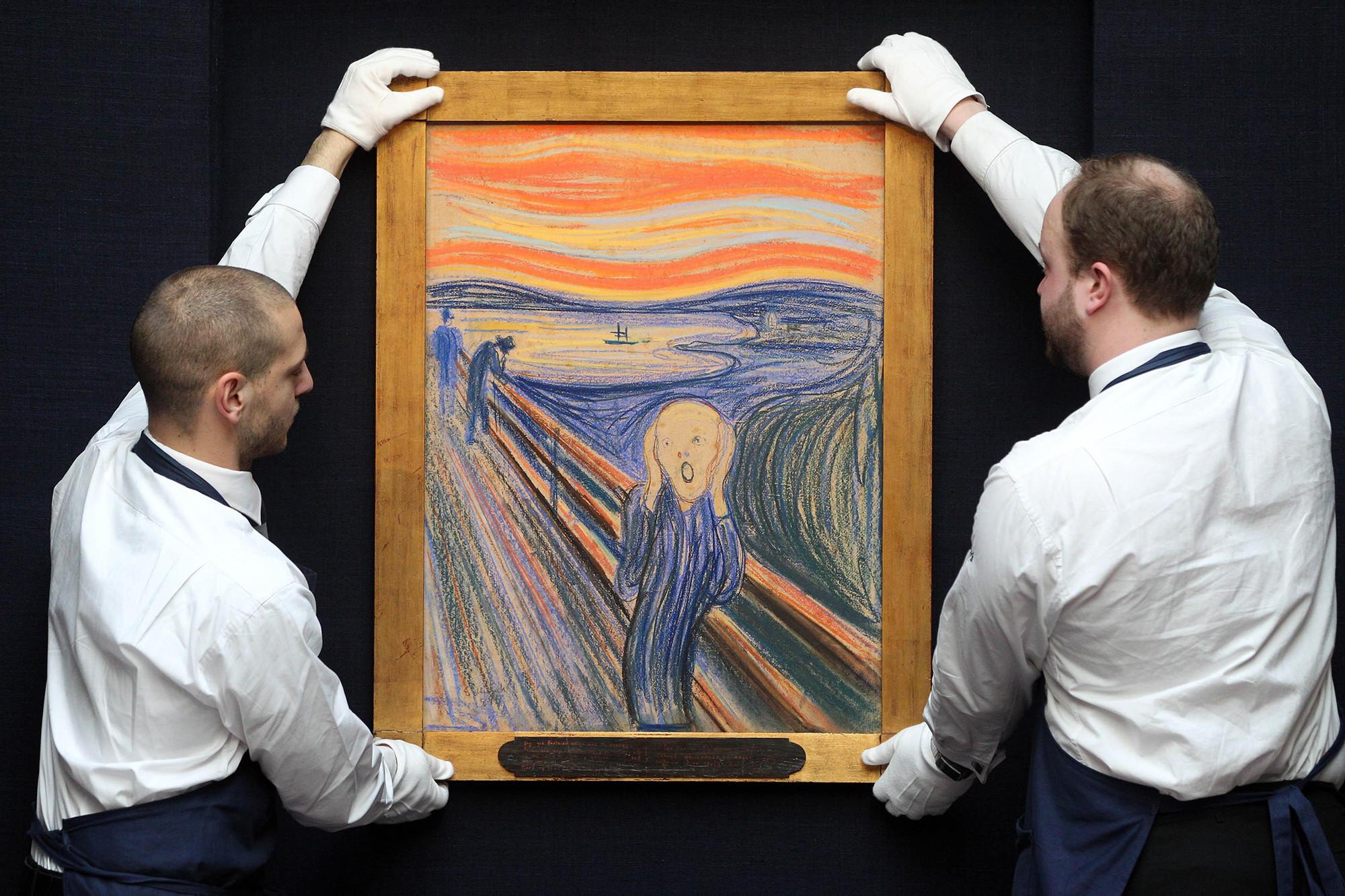 Edvard Munch wrote hidden madman message on The Scream