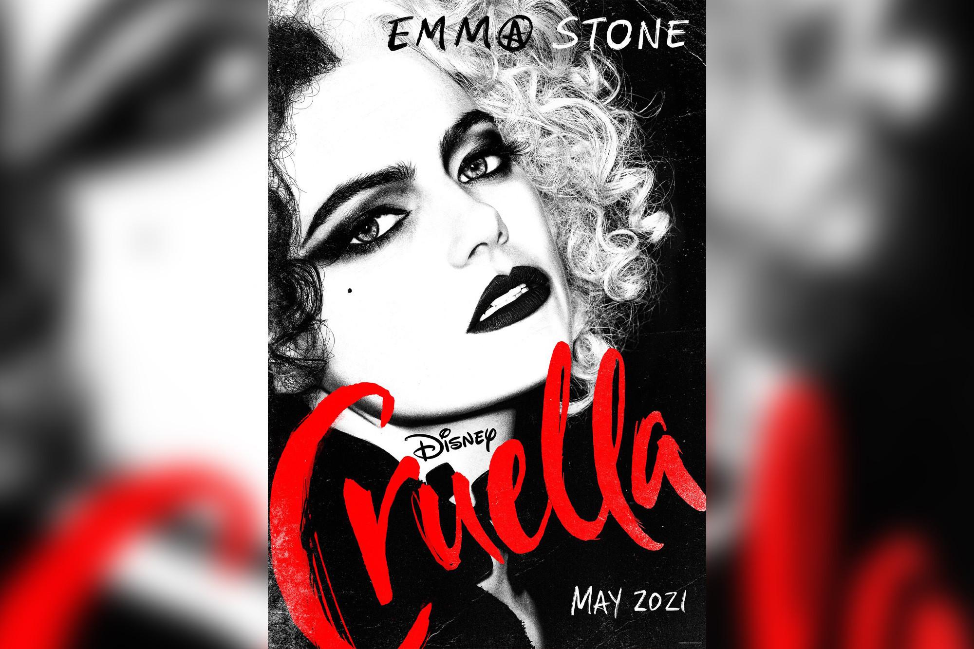 Emma Stone reinvents Cruella de Vil in 2021 Disney movie