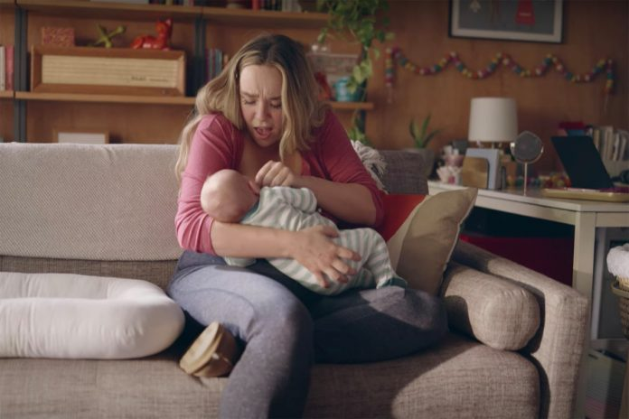 First commercial showing lactation to air during Golden Globes