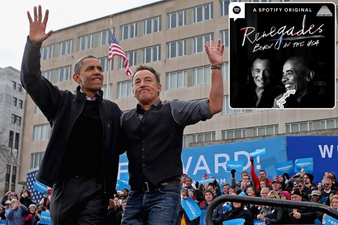 Obama, Bruce Springsteen team up for new podcast on Spotify