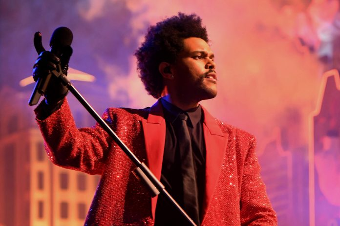 The Weeknd was ready for close-up