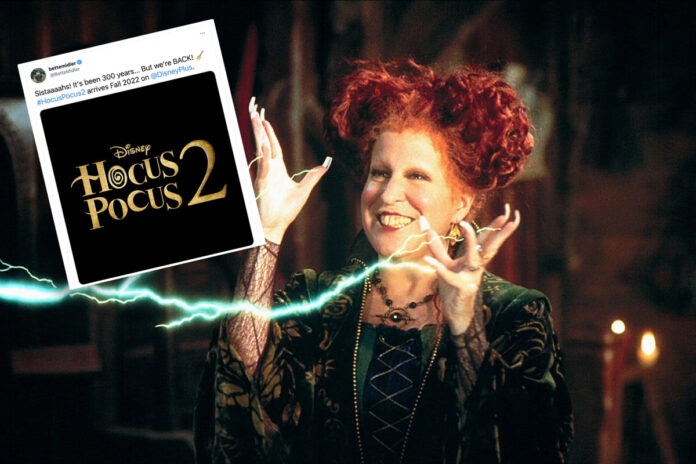 Bette Midler announces date for 'Hocus Pocus 2' on Disney+