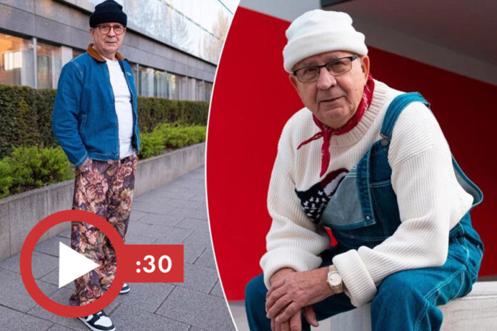 Grandpa goes viral online rocking his grandson's streetwear