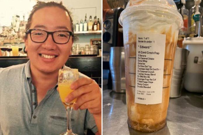 Starbucks 'Edward' speaks out after his crazy order goes viral